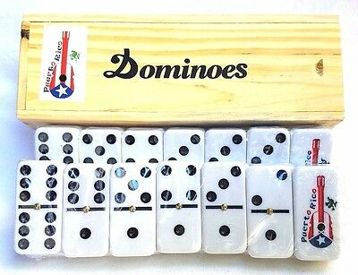 Professional Puerto Rico Flag Double Six Dominos Dominoes Boricua Rican GUITAR