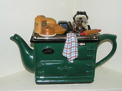 The Tea Pottery Teapottery Teapot Aga Novelty Large Size Beautiful Condition