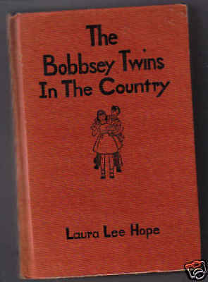 THE BOBBSEY TWINS IN THE COUNTRY  Orange 1943 Ex+