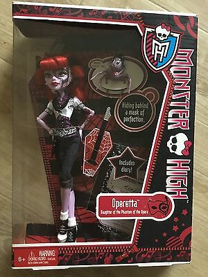 Monster High Doll Operetta Collectable And Rare New In Box