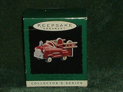 Hallmark 1996 Murray Fire Truck - Kiddie Car Classics Miniature Ornament - NEW