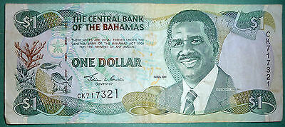 Bahamas, The Central Bank 1 Dollar Note From 2001, P 69