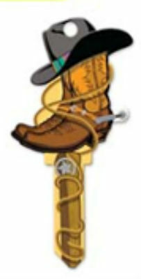 "Trendy 3D ""  COWBOY BOOTS "" House Key KW1/11 Kwikset RODEO STAMPEDE"