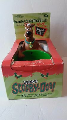 Gemmy Animated SCOOBY DOO Christmas Holiday Candy Dish from Year 2000