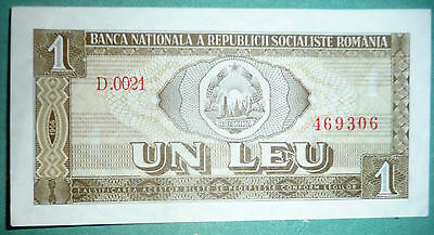Romania 1 Leu Note From 1966 , P 91