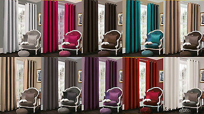 Blackout Curtains Ready Made Thermal Eyelet Fully Lined Ring Top Curtains