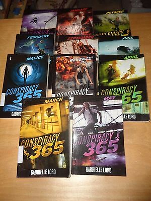 Conspiracy 365 - Gabrielle Lord -  11 Books - Ex. cond.