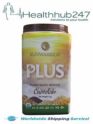 Sunwarrior Classic Plus Protein Chocolate 1Kg Express Del