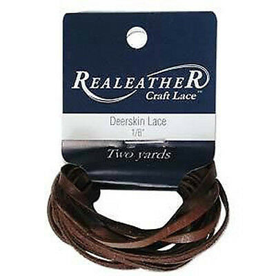 """2 Yds. Deerskin Chocolate Leather Lace 1/8"""" Craft and Jewelry Beading Cord"""