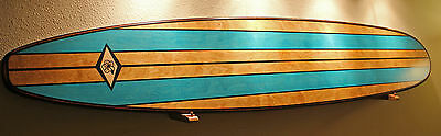 Wood Surfboard Art Bar Top Shower Vintage Hawaiian Tiki Bar Decor