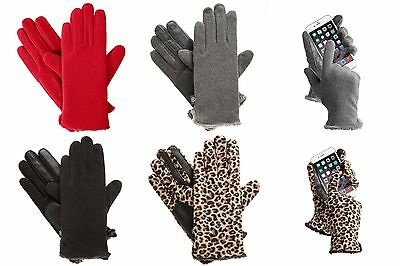 NWT Womens ISOTONER Stretch Fleece Gloves with smarTouch Technology ONE SIZE