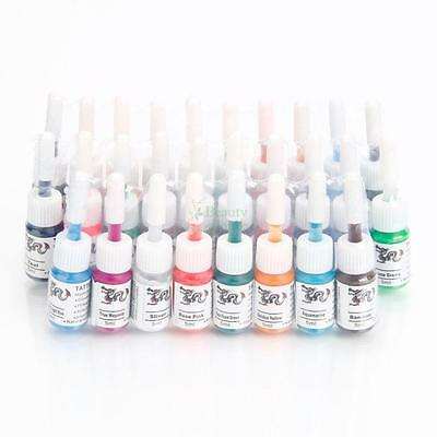 Professional 28 Color Tattoo Ink Pigment Supplies Set Kit 5ml/Bottle