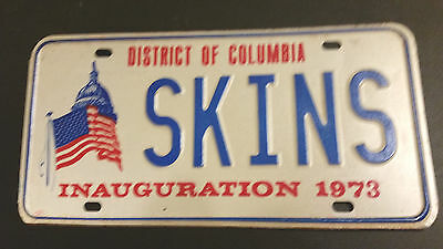 "1973 District Of Columbia ""skins"" Souvenir License Plate"