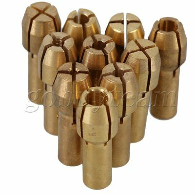 10 x 0.5-3.2mm Copper Grinding Drill Collect Chuck Holder 4.3mm For Rotary Tool
