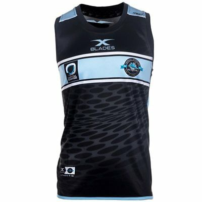 Xblades Cronulla Sharks NRL Training Singlet 2017 - Black