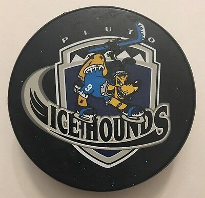 VINTAGE Disney World ICEHOUNDS Pluto K9 Hockey PUCK! Rare Collectible!