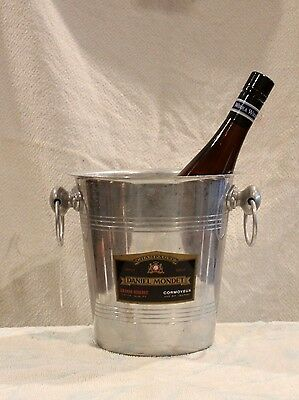 Vintage French Champagne Bucket. Good Used Condition. Labelled 'daniel Mondet'