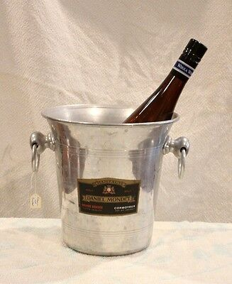 Vintage French Champagne Bucket In Good Used Condition. Signage; 'daniel Mondet'