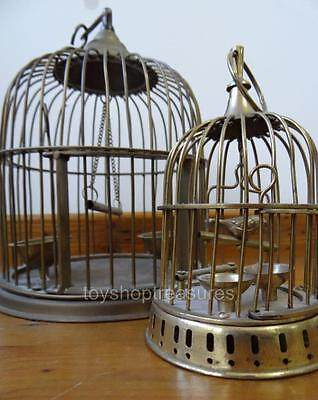 2 Decorative Vintage Brass Bird Cages - Hang or Table Top Wedding