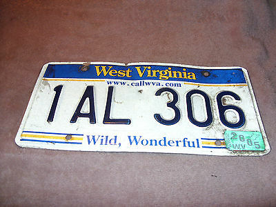 Vintage Metal Tag from the State of West Virginia and the Year of 2005
