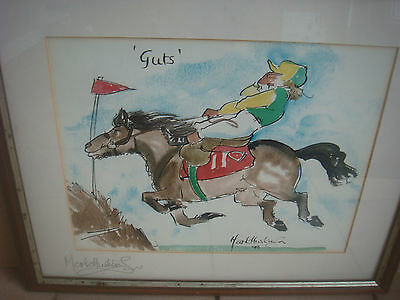 Signed Mark Huskinson Horse Racing Print - Guts