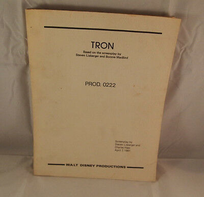 Tron 1981 Original Production # 0222 Screenplay Extremely Rare Walt Disney