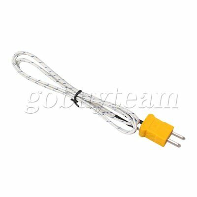 1Meter Thermocouple Sensors K Type Cable Stainless Steel Probe with Connector