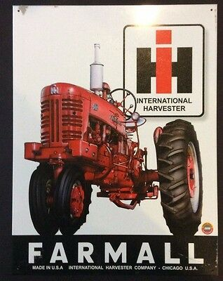 FARMALL Tractor Vintage Tin Sign 12 x 16 Inches NEW