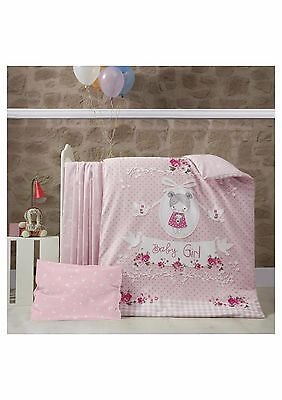 3 Piece PREMIUM Baby Bedding COT BED Duvet Set & Fitted Sheet 100% COTTON !