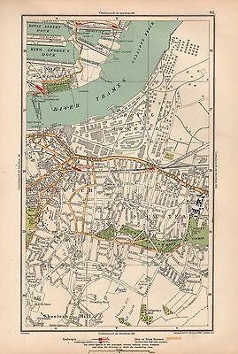 1933 London Map-Royal Arsenal,plumstead,woolwich,shooters Hill,gallions Reach