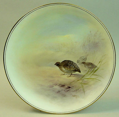 A Finely Hand Painted Royal Doulton Porcelain Cabinet Plate By C. Hart C.1918
