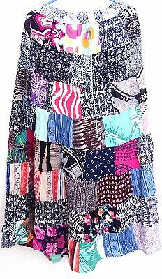 Lot of 10 pcs Indian Vintage Style Patchwork Hippie Boho Fall Fashion Skirts