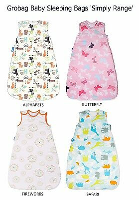 Grobag 'Simply Range' Baby Sleeping Bag 2.5 Tog (6-18 or 18-36m) *Various Design