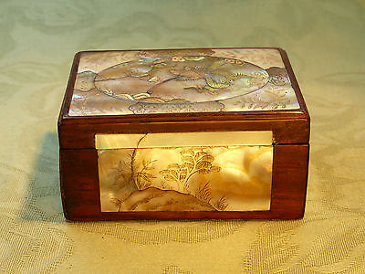 Antique Chinese Mother-of-pearl inlaid Dragon Box