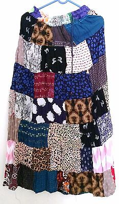 Lot of 5 pcs Indian Vintage Style Patchwork Hippie Boho Fall Fashion Skirts