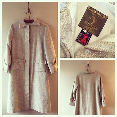 True Vintage 1960s/70s Curfew Weavers Welsh Tweed Wool Coat Jacket UK10 12