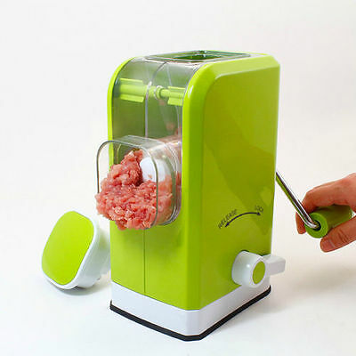 Multi Function Green Manual Meat Grinder Mincer Pasta Sausage Stuffing Maker