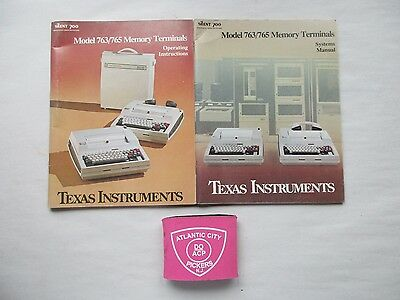 Texas Instruments Silent 700 763/765 Memory Terminals Operating & Systems Manual