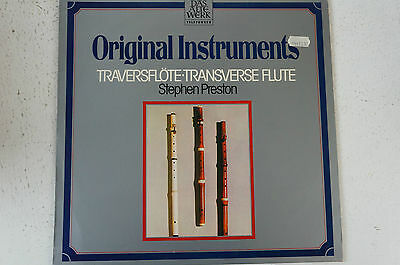 Original Instruments Traversflöte Stephen Preston Werke von la Barre (LP12)