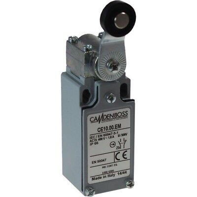Camden Boss CE10.00.EM Limit Switch 30mm IP66 Metal Nylon Roller Lever
