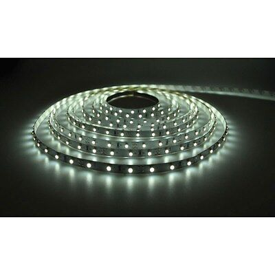 PowerPax UK 1MFL-600SMD-W + C4229 1m 12V LED Strip Cool White 2.1mm 120pcs 9.6W