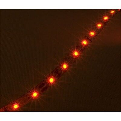 TruOpto 5MR300 LED Strip 5m 12V Red 2.1mm DC Jack Connect 4.8W/m 3528 SMD