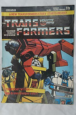 Transformers Comic UK Issue # 13 - Marvel Comics - 1985 - 32 Years Old !