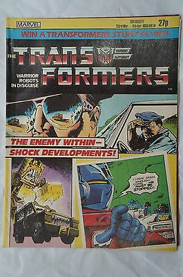 Transformers Comic UK Issue # 14 - Marvel Comics - 1985 - 32 Years Old !
