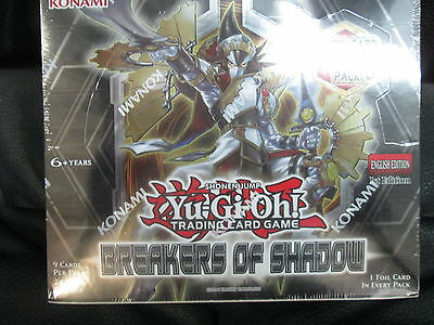 Yugioh Breakers Of Shadow Booster Sealed Box