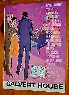 Jazzy 1959 Calvert House Canadian Rye Whisky Ad - Retro 1950S Vintage Cool