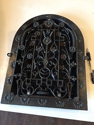 Ca 36 Antique Cast-Iron Arch Top Heating Great Very Fancy