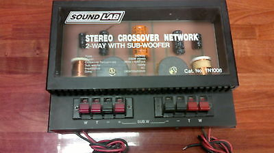 Subwoofer crossover network 2 way - Stereo