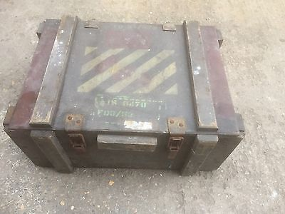 Army Military Storage Tool Box Wooden