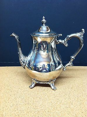 Vintage William Rogers 800 Silver Plated Footed Tea/coffee Pot